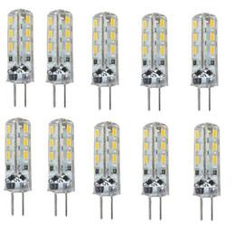 G4 Energy Saving Bulb Canada - 50 pcs G4 Led 24 SMD 3014 1.5W Corn Bulbs DC 12V 110LM Energy Saving Lights