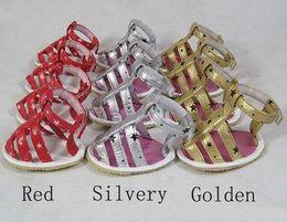 $enCountryForm.capitalKeyWord NZ - 10sets lot Cheap Pet Large Dog Sandals Shoes PVC+Rubber Sole Material Gold Red Siliver Color Sandals For Pets Hot Sale