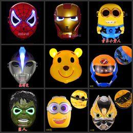 2017 halloween props guy glow in the dark luminous spiderman superhero mask movie guy masks for - Discount Halloween Props