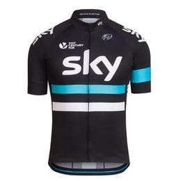 sky cycling jersey blue UK - Team Sky Summer Cycling Jerseys Moisture-wicking Mens Bicycle Shirts Ropa Ciclismo Racing Short Sleeves Cycling Bike Tops Unisex Cheap