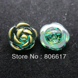 100 Pcs Random Mixed Bronzing Flower Resin Sewing Shank Buttons 12mm Knopf  Bouton(W02457 X 1) M65952 771265278c98