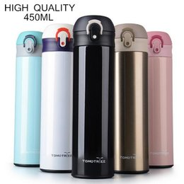 $enCountryForm.capitalKeyWord Canada - High Quality 5 Color Double Stainless Steel Thermos Mug Bounce Cover Coffee Cup Tumbler Thermos Bottle Drinkware 450ml Thermocup