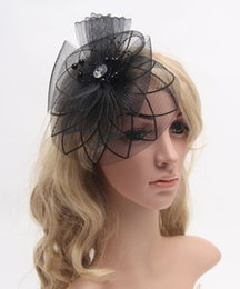 Barato Chapéu Do Derby Do Véu-2016 New Large Sinamay Fascinator Mulheres Party Feather Fascinator Veil Hat Hair Clip Plumas para kentucky Derby e Casamento- J934