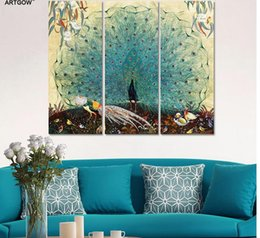 $enCountryForm.capitalKeyWord Canada - Luxurious Garden Animal birds Peacock Picture decoration peahen canvas painting wall Art living room printed home decor unframed