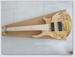 $enCountryForm.capitalKeyWord NZ - Bass Guitars customize 6 strings Electric bass Natural one piece body OEM From China