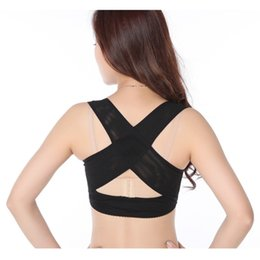 Coffret De Lingerie En Gros Pas Cher-Vente en gros- M-XL Girl Lingerie Solid Jumpsuit Sous-vêtements Femme Corset Lady Chest Brace Support Belt Posture Back Shoulder Corrector Vest