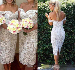Barato Vestidos De Marfim De Renda-Vintage 2016 júnior do Marfim Champagne Lace Alças Bainha Chá Vestidos dama baratos Sexy Backless Maid Of Honor Vestidos
