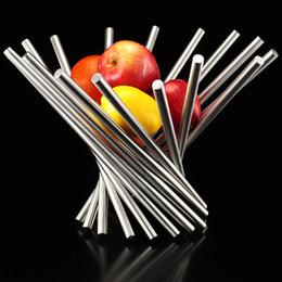 $enCountryForm.capitalKeyWord Canada - Modern stainless steel fruit plate fashion creative personality rotating fruit basket large fruit bowl sanding