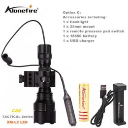 $enCountryForm.capitalKeyWord Canada - Alonefire C8 Tactical Gun Flashlight Torch 2200LM CREE XM-L2 LED 5 Modes LED Flash Light Lanterna+gun scope bases Mount+remote switch