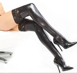 Женщины чулочно-носочные изделия свадьба эластичная кожа клей сексуальные эластичные чулки сексуальное женское белье искусственной кожи бедра максимумы сексуальные латексные чулки pu чулок