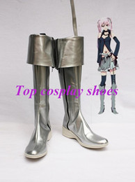 Vocaloid christmas costumes online shopping - Freeshipping Vocaloid Silver PU Leather Cosplay Boots shoes custom made for Halloween Christmas festival