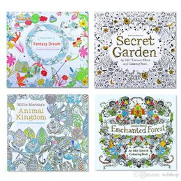 dhl shipping secret garden kids coloring book 24 pages animal kingdom enchanted forest fantasy dream painting drawing book for baby adult supplier coloring