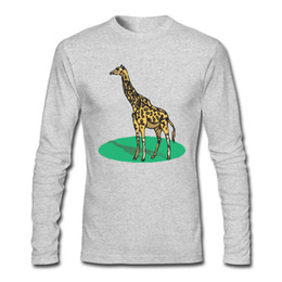 $enCountryForm.capitalKeyWord UK - Giraffe Animal Print Men's T-shirts With Active and Casual Style T-shirts 100% Top Pure Cotton T-shirts