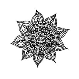 China Yoga Flower Mehndi Indian Mandala Buddha Symbol Wall Decal Buddhism Home Decor Art Sticker VInyl Mural cheap self stick flower decals suppliers