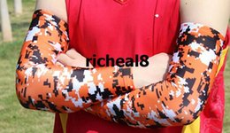 Digital camo reD white blue online shopping - Sale discount cancer breast digital camo arm sleeve Compression Sports Moisture Wicking softball baseball colors sizes