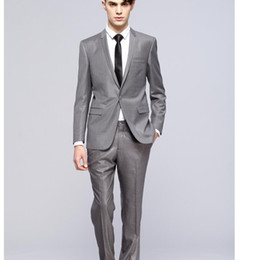Groomsmen Smoking Noir Argent Pas Cher-Custom Made One Button Brillant Silver Groom smokings avec revers de châle noir Best Man Wedding Gearsman Costumes (Jacket + Pant + cravate)
