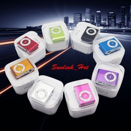 60g mp3 music player clip earphone with charging usb cable and earphone and crystal retail box and TF Micro SD Card Slot