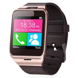 $enCountryForm.capitalKeyWord Canada - Smart Watches Bluetooth Aplus GV18 Clock Sync Support NFC SIM TF Card Camera for Apple IOS Android Smartwatch Smart Wrist Watch Cell Phone