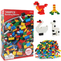 building blocks toys bulk Canada - Building Blocks Toys 1000pcs DIY Bulk Bricks 10 Colors mixed Lifter for Kids Building Bricks Construction Blocks Gifts Toys