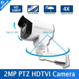 1080P 2MP Outdoor Bullet 4X Оптический зум 2.8-12мм Объектив Mini PTZ Bullet TVI Camera, 4Pcs Array Leds, 50M IR PTZ TVI Camera