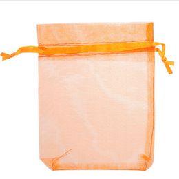 $enCountryForm.capitalKeyWord UK - 17*23 cm Organza Bag Jewelry Pouch Candy Bags Drawstring Organza Pouch Wedding Favor Gift Multi Colors 6.7*9 inch