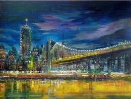 $enCountryForm.capitalKeyWord NZ - Framed Manhattan Bridge,New York City VIEWS,Pure Hand Painted abstract Art Oil Painting On Canvas.Multi sizes