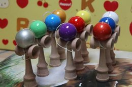 free kendama games UK - Free Shipping Jumbo Kendama Toy Japanese Traditional Wood Game Kids Toy PU Paint & Beech 25x8CM