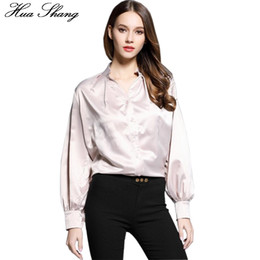$enCountryForm.capitalKeyWord Canada - Korean Elegant Female Shirt Long Sleeve V Neck Puff Sleeve Ladies Office Shirts Chiffon Blouse Tops Women Clothing