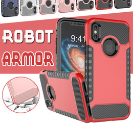 $enCountryForm.capitalKeyWord NZ - Hybrid Robot Armor Combo Soft TPU PC Back Case For iPhone X 8 7 6 6S Plus Phone Cases Dual Layer Rugged Shockproof Cover For Samsung Note 8