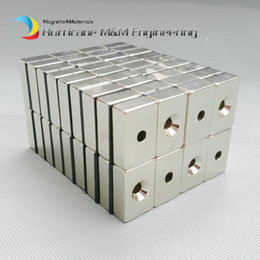 $enCountryForm.capitalKeyWord Canada - 20pcs NdFeB Fix Magnet 30x20x10mm with M5 Screw Countersunk Hole Block N42 Neodymium Rare Earth Permanent Magnet