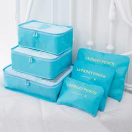 $enCountryForm.capitalKeyWord Australia - 6PCs Set Travel Storage Bag High Capacity Clothes Tidy Pouch Luggage Organizer Portable Container Waterproof Storage Case