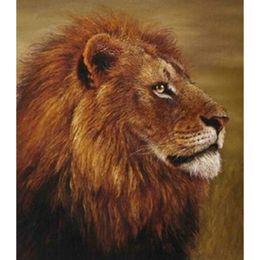 lion head decor 2019 - New Arrival! 3D Diy Square Diamond painting princess lion head Cross Stitch Decor Embroidery Painting 35x40cm HWB-705
