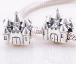 Pandora Crown Bracelet .925 Canada - Fits Original Pandora Bracelets & Bangles & Necklaces CASTLE & CROWN CHARM DIY Beads Real Solid 925 Sterling Silver Not Plated