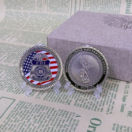 Wholesale Military Coins NZ - Low Price and High Quality 2017 Hottest Sale United States St Michael Protect us FBI Military Challenge Collective Coin for Sale