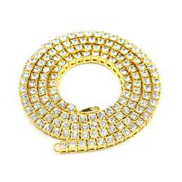 MCW Estilo Hip Hop 1 hilera Collar Material de aleación AAA Collar de cristal con diamantes de imitación intensivo para hombres y joyería para mujer Tres colores
