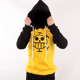Cosplay Law Canada - Japanese Anime clothes One Piece Cosplay Trafalgar Law Costume Hoodie Adult Yellow Sweater Anime Fans Casual Daily Style