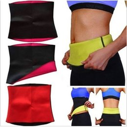 Barato Senhora, Magro, Peso-Wholesale-10pcs / lot Fitness Belts Shapewear Yoga Belt Self-heating Girls Lady Slimming Calças Body Shaper Perda de peso cintura Cincher Belts