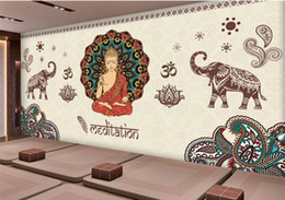 $enCountryForm.capitalKeyWord NZ - Thailand Yoga 3D Mural Joss figure of Buddha Photo Murals 3D WALLPAPERs for Wall Art Wall Paper Wallcovering papel parede rolo