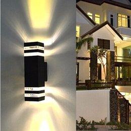 Frete grátis LED 10 W Duas Cabeças de iluminação Ao Ar Livre / lâmpada de parede ao ar livre / LED Luzes Da Varanda / luz de alumínio / à prova d 'água IP65 lâmpada venda por atacado