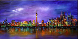 Best Canvas Wall Decor Canada - Top Abstract Oil Painting on Canvas Night Scene Art Paints for Home Wall Decor Best Holiday Gifts to Friends or Customers