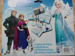 2017 Frozen Coloring Book Set Poster Art Childrens Educational W H Paint Brush