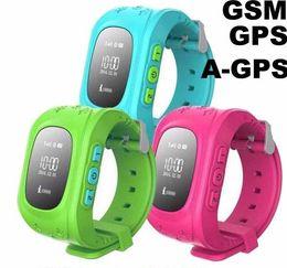 Kid Tracker Smart Watch NZ - 2016 Smart Kid Safe GPS Q50 Watch Wristwatch SOS Call Location Finder Locator Tracker for Kid Child Anti Lost Monitor Baby Gift