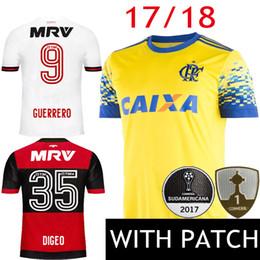 64b3084f4 online shopping 17 CR Flamengo Soccer Jersey Brazil Third Yellow Camisa de  futebol GUERRERO DIEGO Ribeiro