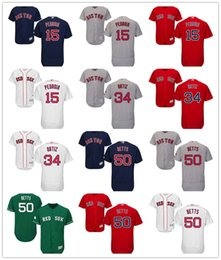 baseball boston red sox jerseys 34 david ortiz 50 mookie betts 15 dustin pedroia jerseys red sox 24