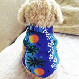 Hawaiian Accessories Canada - Colorful Cute Summer Pet Dog Puppy Clothes Hawaiian Beach Floral T-Shirt Apparel Costumes XS-XL 5 Sizes