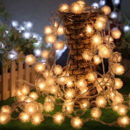 Discount snowflake string lights outdoor outdoor snowflake string snowflake string lights outdoor 2018 wholesale 10m 80 led furry ball rgb edelweiss snowflake aloadofball Gallery
