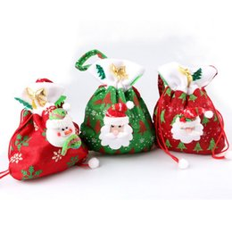 $enCountryForm.capitalKeyWord Canada - DHL Free Shipping 3 colors Christmas Santa Claus Kids candy gift bags Handbag Pouch Wedding Sack Present Bag Christmas Decoration Cute Santa