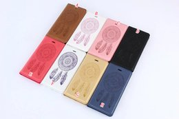 $enCountryForm.capitalKeyWord UK - Magnetic Dream catcher Wallet Leather Pouch For Iphone X XS 8 7 I8 Iphone8 6 6S Plus 5 5S SE Samsung Galaxy S7 Edge S5 Feather Card Cover