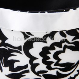 Cesta De La Boda Blanco Negro Baratos-Al por mayor- Ceremonia de Boda Flooring White Black Foral Flower Girl Basket