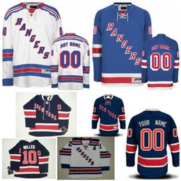 f723548dd ... custom new york rangers mens womens youth personalized navy blue third  jerseys customized rangers light blue